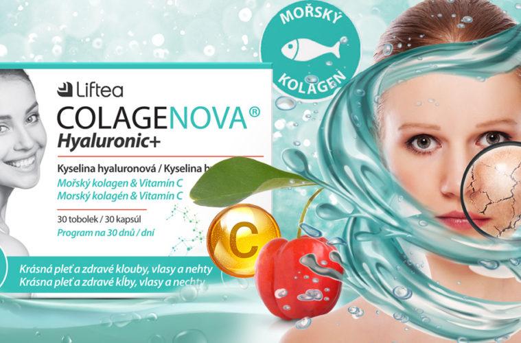 Doplněk stravy pro omlazení pleti a zdravé klouby Colagenova Hyaluronic+ je teď k dispozici i v podobě tobolek obohacených o vitamín C.
