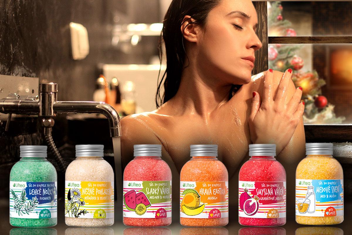 Nové portfolio wellness koupelových solí Liftea pro domácí použití obsahuje šest unikátních směsí, které chtějí najít souznění s naší duší i pomoci neduhům našeho těla.