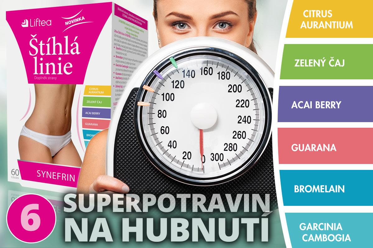 Liftea Štíhlá linie SYNEFRIN – to je 6 superpotravin na hubnutí.