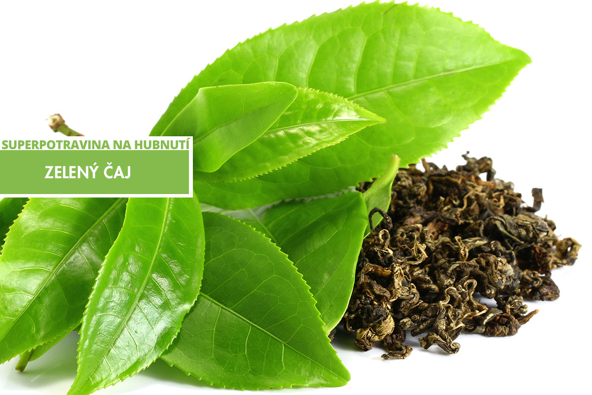 Zelený čaj – jedna ze superpotravin na hubnutí.